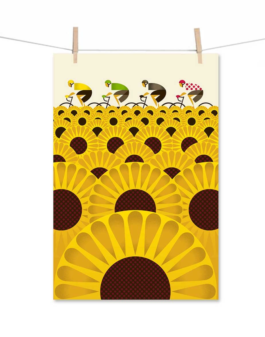 Le Tour Poster - Sunflower Fields