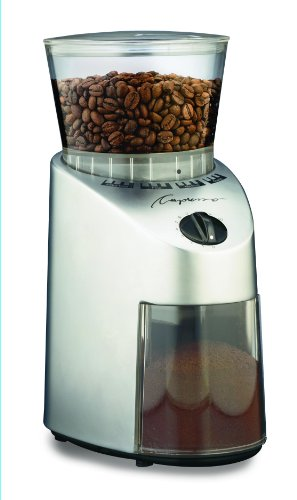 Capresso 560.04 Infinity Conical Burr Grinder, Stainless Finish- AMAZON
