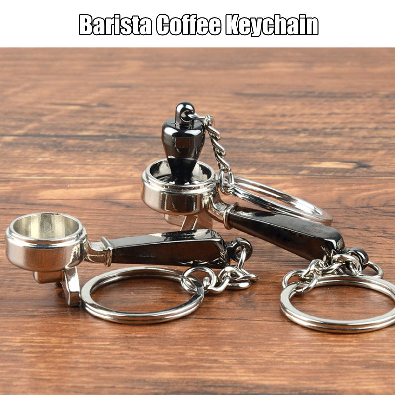 Coffee Tamper or Portafilter Key Chain! The Perfect Gift for the Barista in the Family!