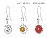 Bee Bum | Drop Earrings with Gear