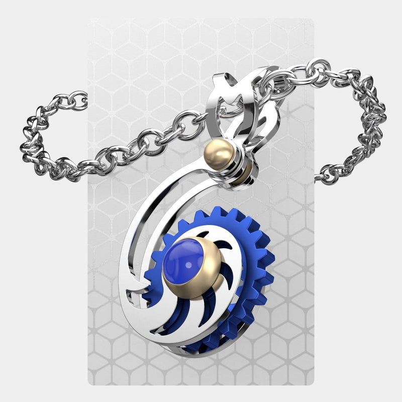 Fibonacci & Large Gear | Mini Pendant