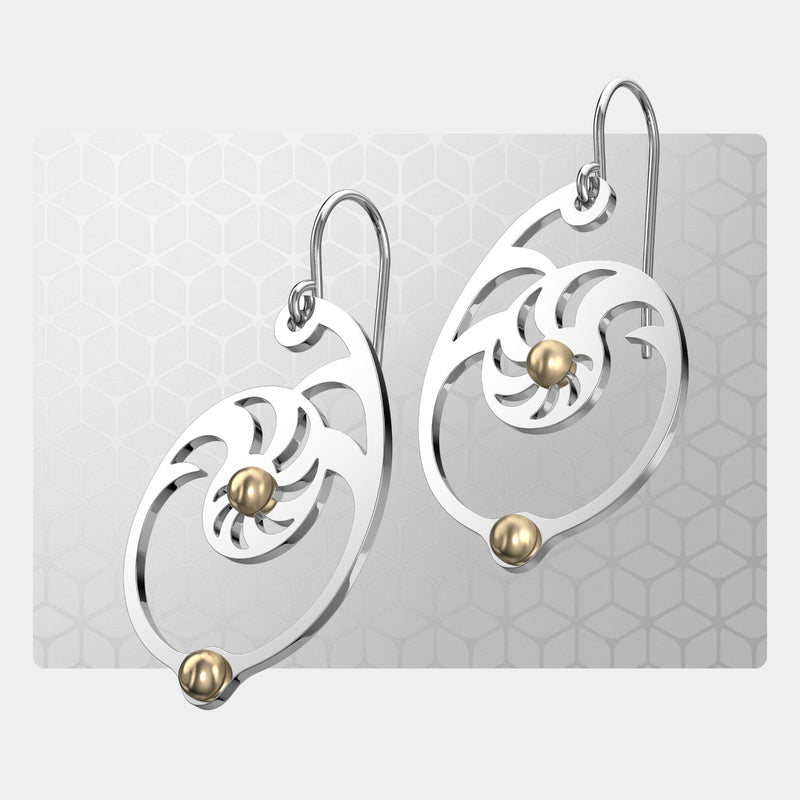 Fibonacci 2 | Drop Earrings