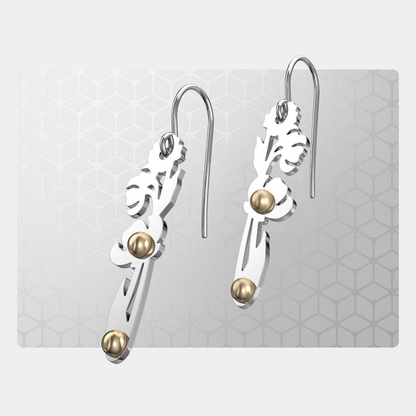 Pressed Flowers | Drop Earrings