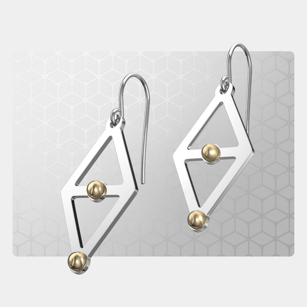 Stacking Triangles | Drop Earrings