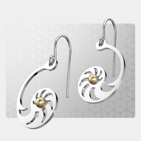 Fibonacci 1 | Drop Earrings