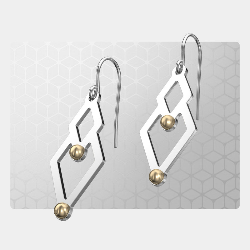 Two of Diamonds | Drop Earrings