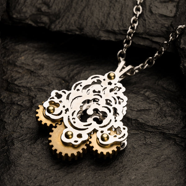 Japanese Wave | Tri-Gear Pendant