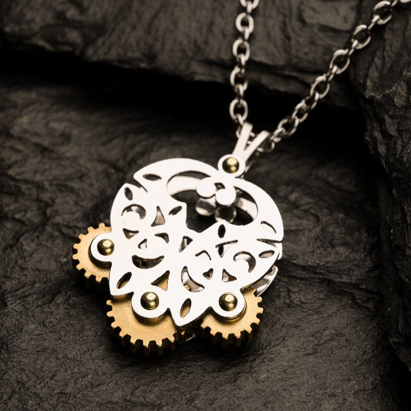 Celtic Butterfly | Tri-Gear Pendant