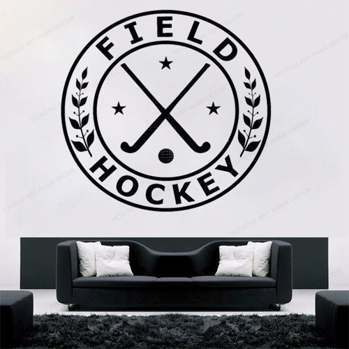 Field Hockey Wall Sticker