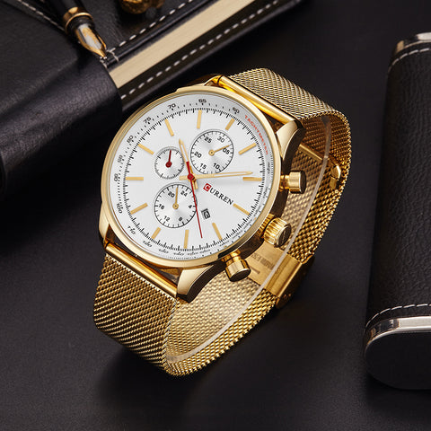 CURREN  Watch Men Fashion Casual Full Sports Watches Relogio Masculino Business relojes Quartz watch 8227