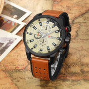 CURREN brand top new fashion casual quartz wrist watch men leather relojes strap round  Quartz  Water Resistant 8250