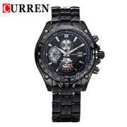 CURREN new fashion casual quartz watch men large dial waterproof chronograph releather wrist watch relojes free shipping 8083