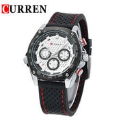 CURREN new fashion casual quartz watch men large dial waterproof chronograph  wrist watch  free shipping 8146