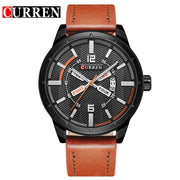 Curren luxury brand quartz watch Casual Fashion Leather watches reloj masculino men watch free shipping Sports Watches 8211