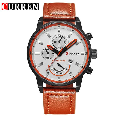 CURREN watch for men brand quartz-watch Men's Round Dial Analog Watch with Date Display 8217