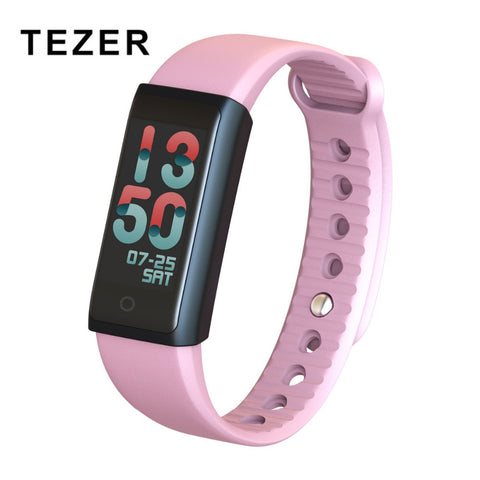 TEZER Y03S Smart Wristband with Herat Rate Monitor Blood Pressure Camera Remote Blood Oxygen Sport Watch for Android iOS Phone