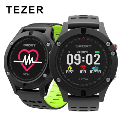 Original Tezer F5 GPS Smart bracelet Altimeter Barometer Thermometer Bluetooth 4.2 Smart wristband for iOS Android