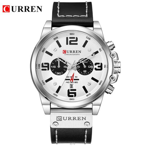Relogio Masculino Mens Watches Top Brand Luxury Men Military Sport Wristwatch Leather Quartz Watch erkek saat curren 8314