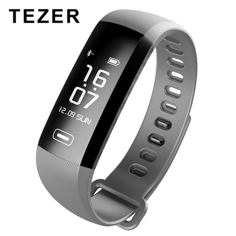 TEZER Smart fitness bracelet waterproof High Quality Blood Pressure Heart Rate Monitor Social software Telephone notification