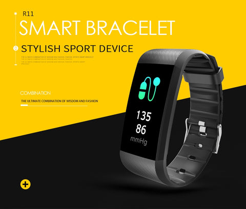 R11 Smart Bracelet Activity Fitness Tracker Heart Rate Monitor Band Alarm Vibration Wristband for iphone Android pk mi band 2