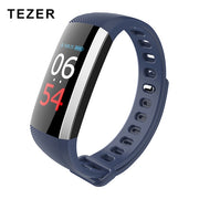 Tezer Bluetooth colourful touch screen smartband Blood Pressure Smart Wristband USB Charging Sport Bracelet Fitness Tracker G19