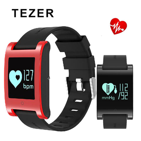"Tezer Smart Wristband 0.95"" OLED DM68 Fitness Tracker Blood Pressure Heart Rate Monitor Calls Messages smart bracelet Watch"
