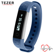 TEZER sport Wrist band Smart bracelet R3 for Android IOS Alarm Heart Rate Monitor Remote Contro black/ blue/rose red Passometer