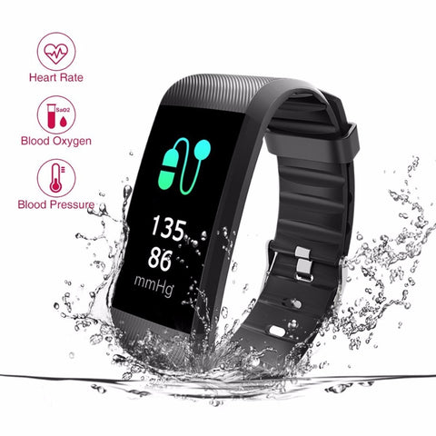 Tezer Fitness Tracker Blood Pressure Smart Bracelet Heart Rate Monitor Blood Oxygen Monitor IP67 Fitness Tracker for Andriod IOS