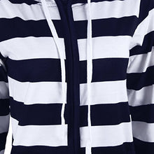 Load image into Gallery viewer, EP-Autumn Women Striped Hoodies Sweatshirt Long Sleeve Hooded Zipper Pockets Jackets Casual Plus Size Tracksuit Womens Clothes - boost-your-inside