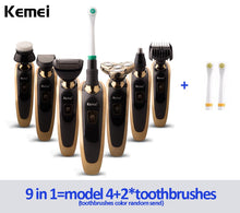 Load image into Gallery viewer, EP-Kemei 7 in 1 Multifunction Comprehensive Floating Waterproof Razor 3D Rechargeable Electric Shaver - boost-your-inside