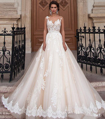 EP-Bride Shoulders Waist Slimming Lace Trailing Large Size Wedding Dress - boost-your-inside