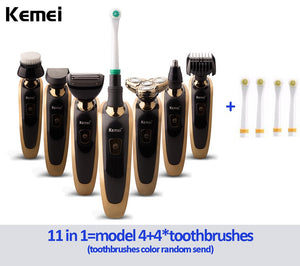 EP-Kemei 7 in 1 Multifunction Comprehensive Floating Waterproof Razor 3D Rechargeable Electric Shaver - boost-your-inside