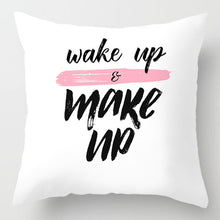 Load image into Gallery viewer, EP-Fashion Pink Letter Pillow Case 45*45 Polyester Home Throw Pillows Soft Decorative Cushion Cover For Sofa Chair Pillow Covers - boost-your-inside