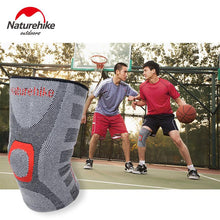 Load image into Gallery viewer, EP-NatureHike Elastic Knee Support Adjust Bamboo Charcoal  Pads Brace Kneepad Volleyball Basketball Safety Guard Strap M L XL - boost-your-inside