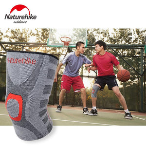 EP-NatureHike Elastic Knee Support Adjust Bamboo Charcoal  Pads Brace Kneepad Volleyball Basketball Safety Guard Strap M L XL - boost-your-inside