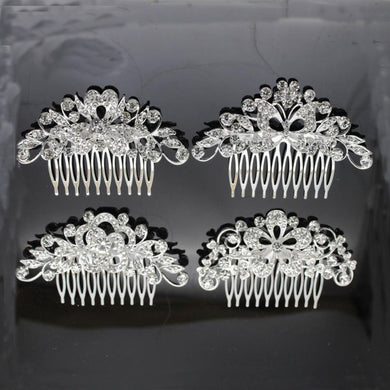 EP-Wedding Dress Accessories Bridal Accessories Wedding Bridal Accessories Alloy Rhinestone Hair Combs Bridal Tiara - boost-your-inside
