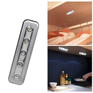 EP-Mini 5 LED Cabinet Light With Adhesive Sticker Lamp For Kitchen Bedroom Closet Wardrobe Night Light Battery Operated - boost-your-inside