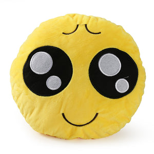 EP-30cm Face Emoji Pillow Round Cushion For Sofa Car Seat Home Decorative Cushions - boost-your-inside
