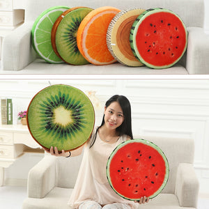 EP-New Cute Creative 3D Summer Fruit PP Cotton Office Chair Back Cushion Sofa Throw Pillow Soft decorative pillows - boost-your-inside