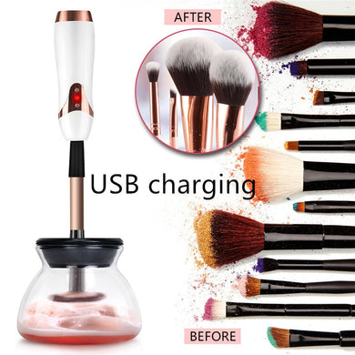 New USB Charging Electric Makeup Brush Cleaner & Dryer Set Silicone Make up Brushes Washing Cleaning Tool Machine 40#709 - boost-your-inside