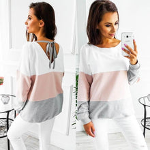 Load image into Gallery viewer, Casual Women Mom Pregnant Clothes Blouse Ropa De Mujer Shirt Maternity Nursing Maternity Long Sleeved Striped Tees Clothe Jurk - boost-your-inside