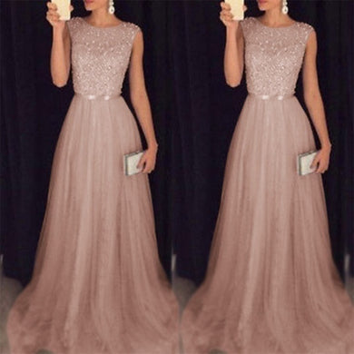 Women's Luxury Elegant Sequins Mesh Hem Long Party Dresses New Fashion Lace Up Slim Fit Sleeveless Maxi Dresses