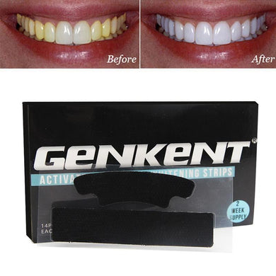 Genkent Black Teeth Whitening Strips Activated Charcoal Professional Effects Plus Whitestrips Tooth Whitening Tool - boost-your-inside