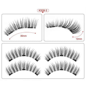 Magnetic eyelashes with 3 magnets handmade 3D/6D magnetic lashes natural false eyelashes magnet lashes with gift box-24P-3 - boost-your-inside