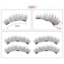 Load image into Gallery viewer, Magnetic eyelashes with 3 magnets handmade 3D/6D magnetic lashes natural false eyelashes magnet lashes with gift box-24P-3 - boost-your-inside