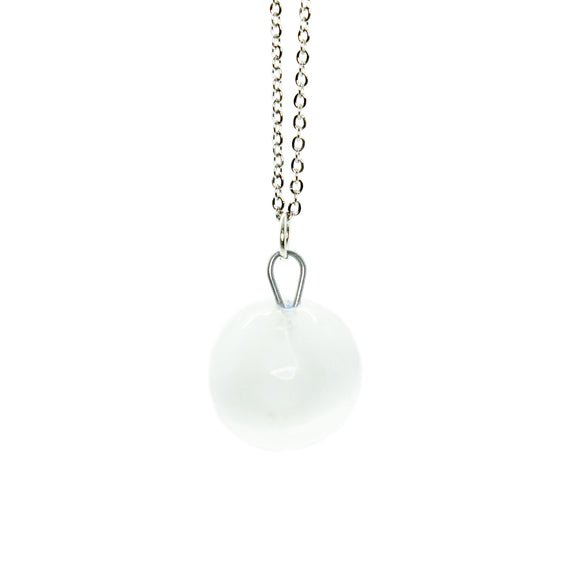 Selenite Sphere Necklace