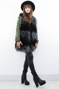 Angie Shaggy Gilet - little-lies-uk