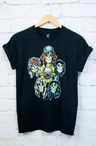 Guns N Roses Five Heads Tee - little-lies-uk
