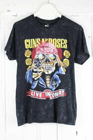 Guns N Roses Distressed Skull Tee