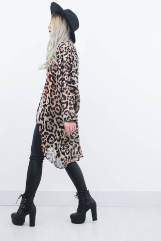 Don't Stop Leopard Kimono - little-lies-uk